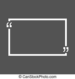 Quote bubble blank templates. Empty business card, paper sheet, information, text. Print design Vector illustration