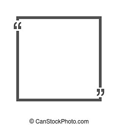 Quote bubble blank templates. Empty business card, paper...