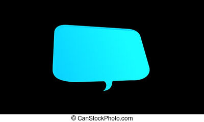Quote box png. Template quote bubbles for comments with space for text on transparent background. 2D animation. Video footage. Flat cartoon motion graphics.