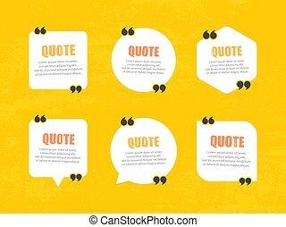 Quote bubbles template.