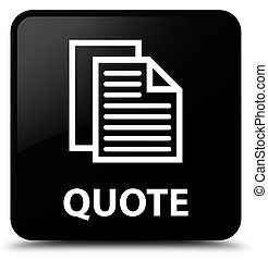 Quote (document pages icon) black square button