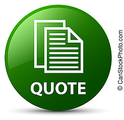 Quote (document pages icon) green round button
