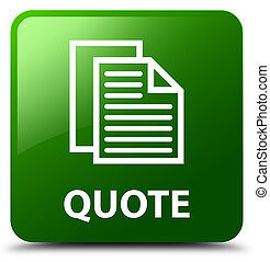 Quote (document pages icon) green square button