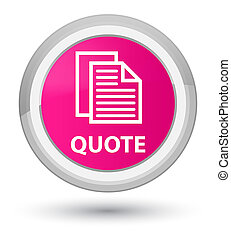 Quote (document pages icon) prime pink round button