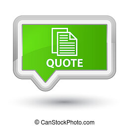 Quote (document pages icon) prime soft green banner button
