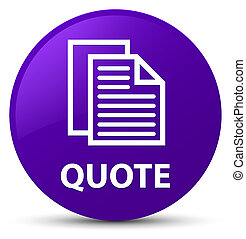 Quote (document pages icon) purple round button