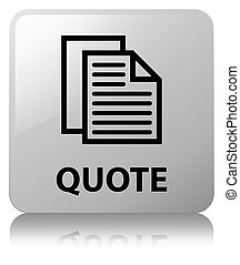 Quote (document pages icon) white square button