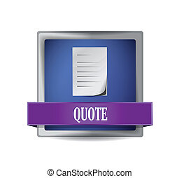 quote glossy blue