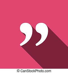 Quote icon vector