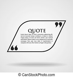 Quote Marks Blank Template Card