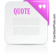 Quote note paper card