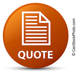 Quote (page icon) brown round button