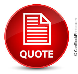 Quote (page icon) elegant red round button