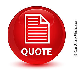 Quote (page icon) glassy red round button