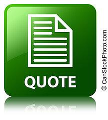 Quote (page icon) green square button