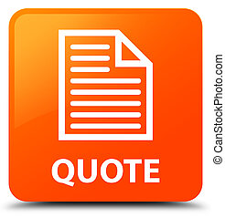 Quote (page icon) orange square button