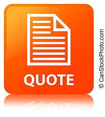 Quote (page icon) orange square button