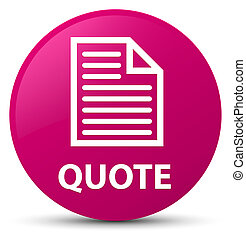 Quote (page icon) pink round button