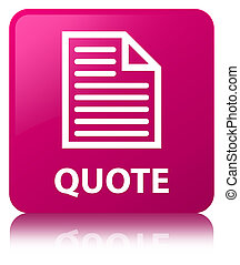 Quote (page icon) pink square button