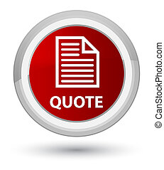 Quote (page icon) prime red round button