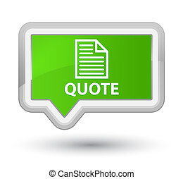 Quote (page icon) prime soft green banner button