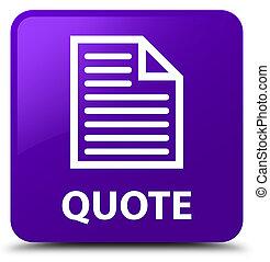 Quote (page icon) purple square button