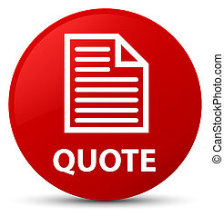 Quote (page icon) red round button