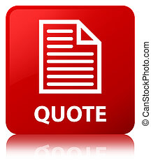 Quote (page icon) red square button