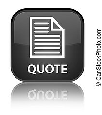 Quote (page icon) special black square button