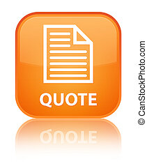 Quote (page icon) special orange square button