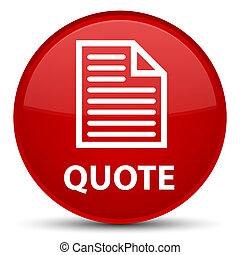 Quote (page icon) special red round button