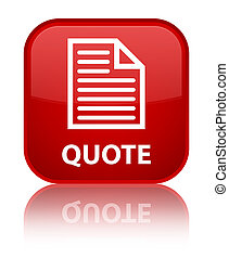Quote (page icon) special red square button