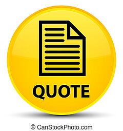 Quote (page icon) special yellow round button