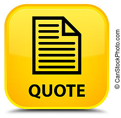Quote (page icon) special yellow square button