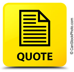 Quote (page icon) yellow square button