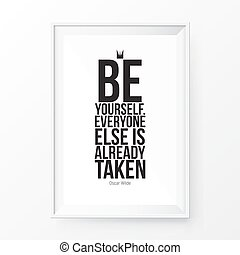 Quote Poster Frame