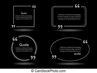 quote shadow black background