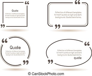 quote shadow white background