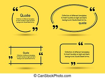 quote shadow yellow background
