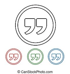 Quote sign icon