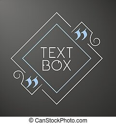 quote., sketchbook, box., bubble., tekst, frame, citaat, dekking, versiering, noteren, ontwerp, leeg, template., lege, design.