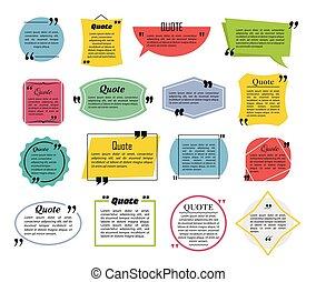 Quote speech bubbles