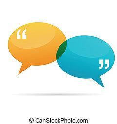 Quote Talk Bubbles - Vector illustration of quote talk ...