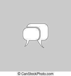 Quote text bubble computer symbol