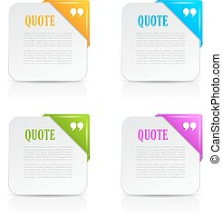 Quote text cards