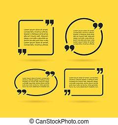 Quote texts bubbles set