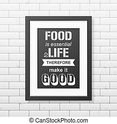 Quote typographical Background in the realistic square black...