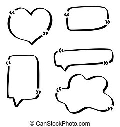 Quotes hand drawn set template