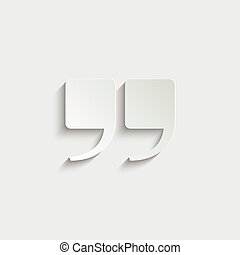 quotes icon vector  illustration isolated on white background