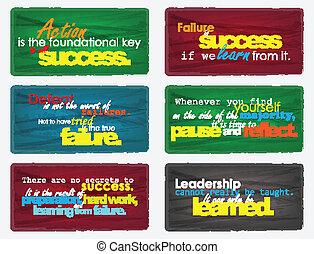 quotes., motivazionale, set
